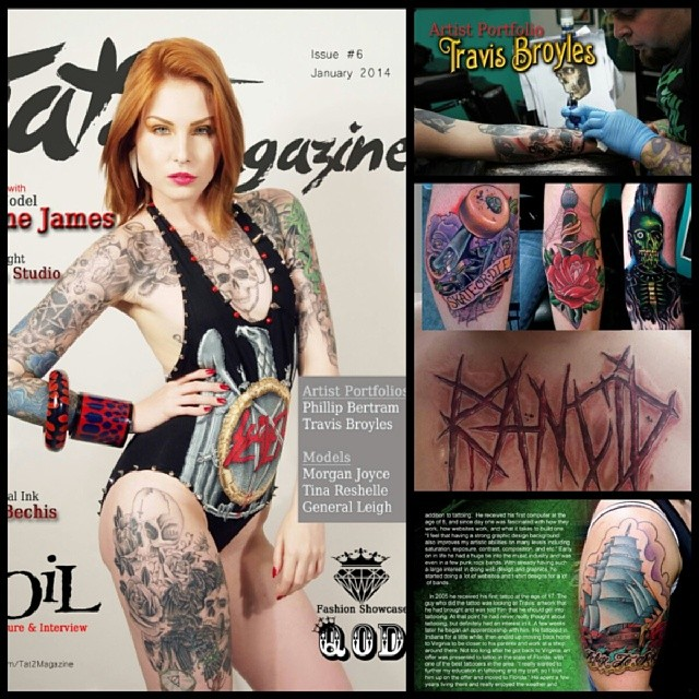Travis Broyles in Tat2 Magazine